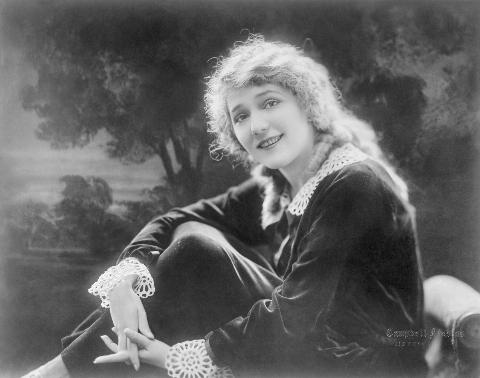a portrait of silent film star mary pickford.