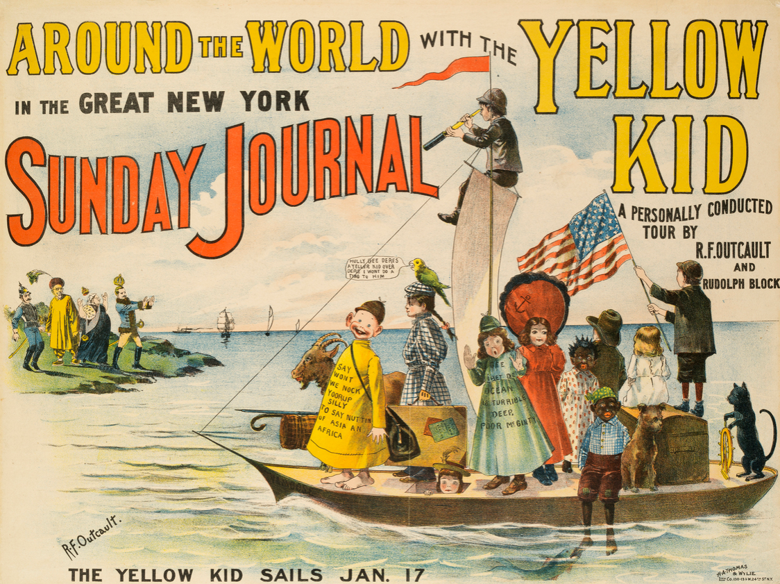 Advertising poster for The Great Sunday Journal, January 17, 1897.