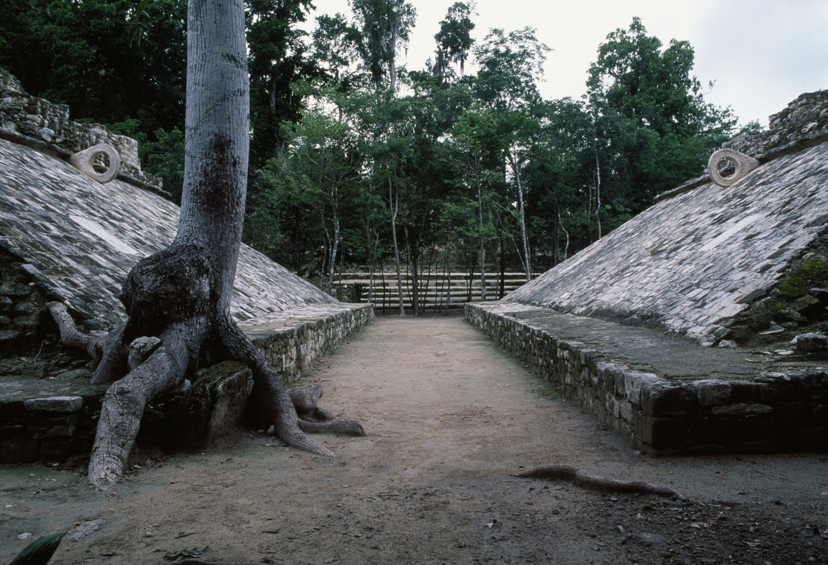 ourt for Juego de Pelota (Mesoamerican ballgame), Coba Group or Group B, Coba, Quintana Roo, Mexico.