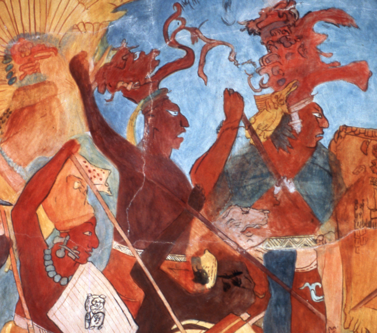reproduction of ancient maya frescoe.
