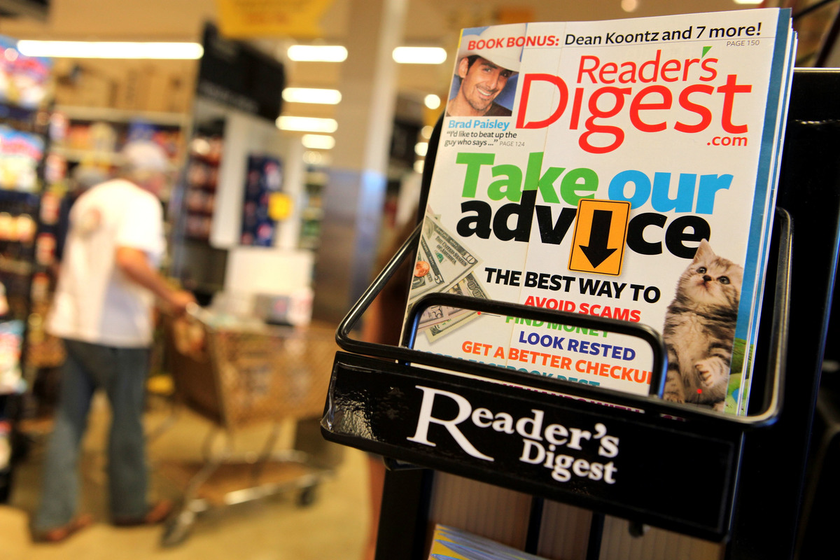 A copy of Reader's Digest magazine is displayed on a rack at a grocery store August 17, 2009 in San Anselmo, California.