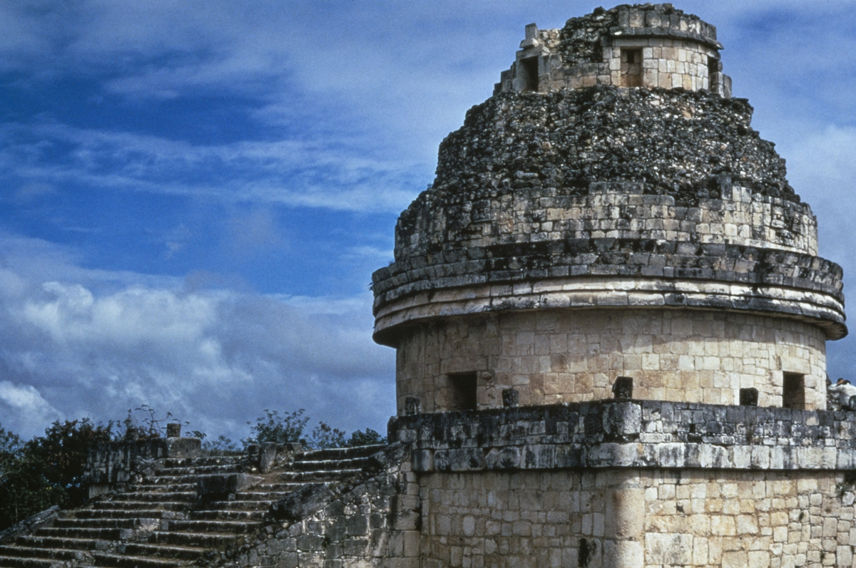 El Caracol, the Observatory, is a unique structure at pre-Columbian Maya civilization site of Chichen Itza.