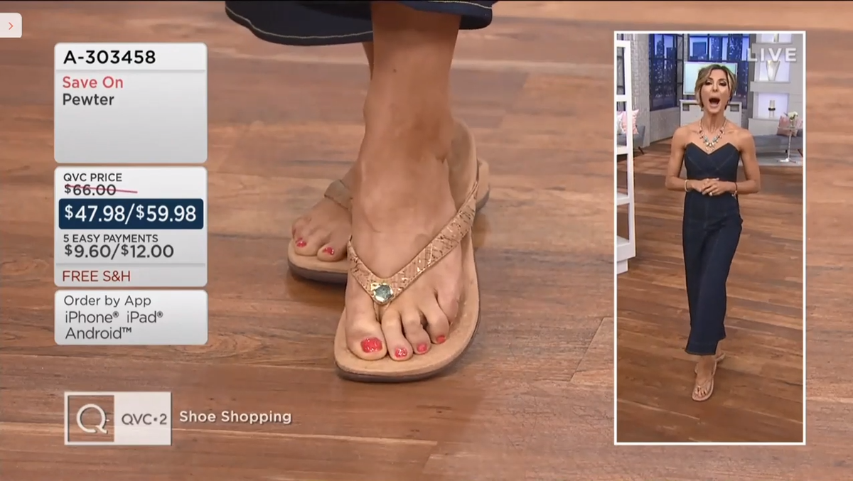 sandals being sold on QVC