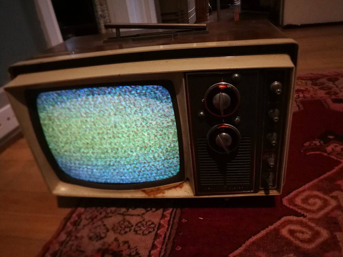 Old TV found in an attic
