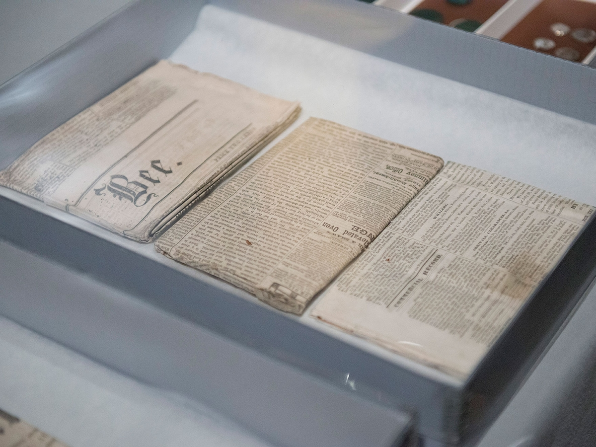 newspapers in time capsule