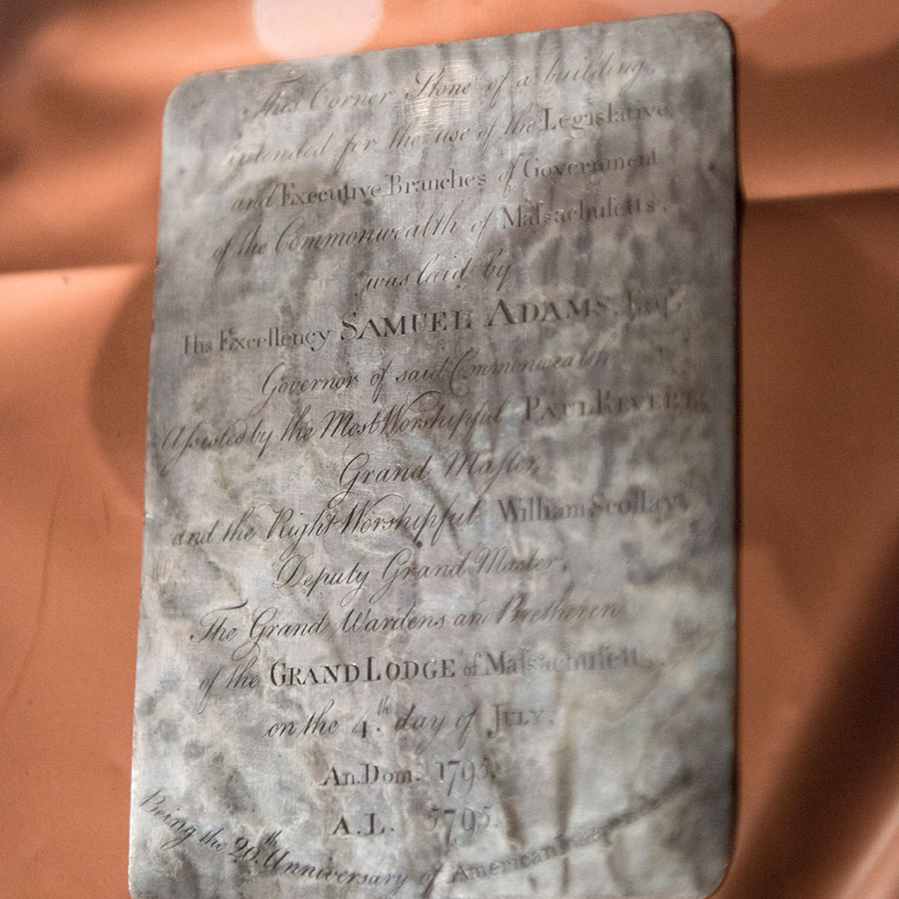 inscribed silver plaque time capsule
