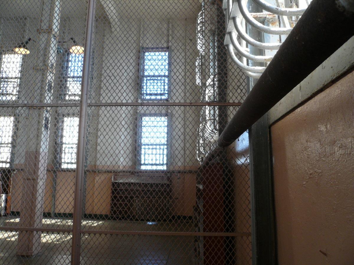 a fence inside alcatraz