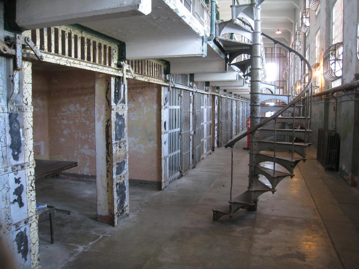 a prison block at alcatraz