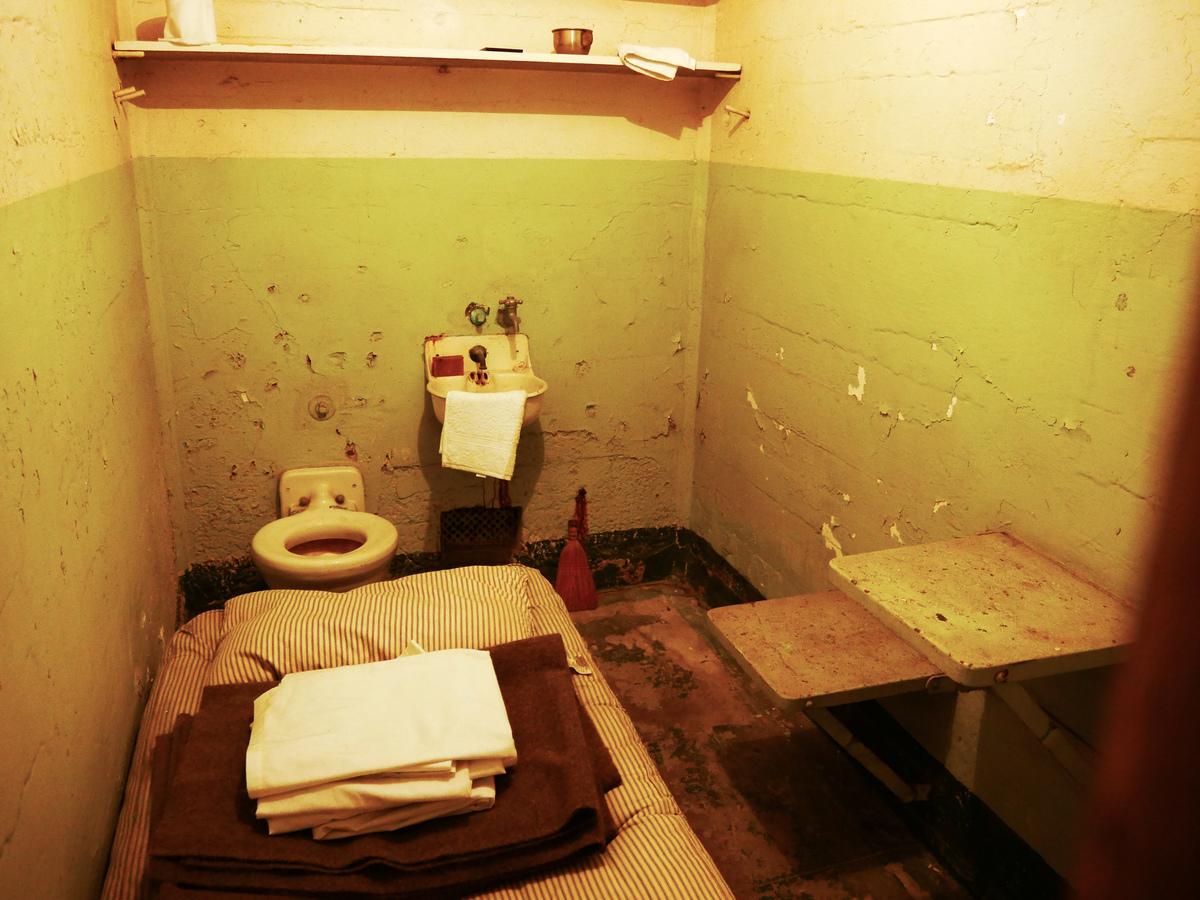 a prison cell at alcatraz
