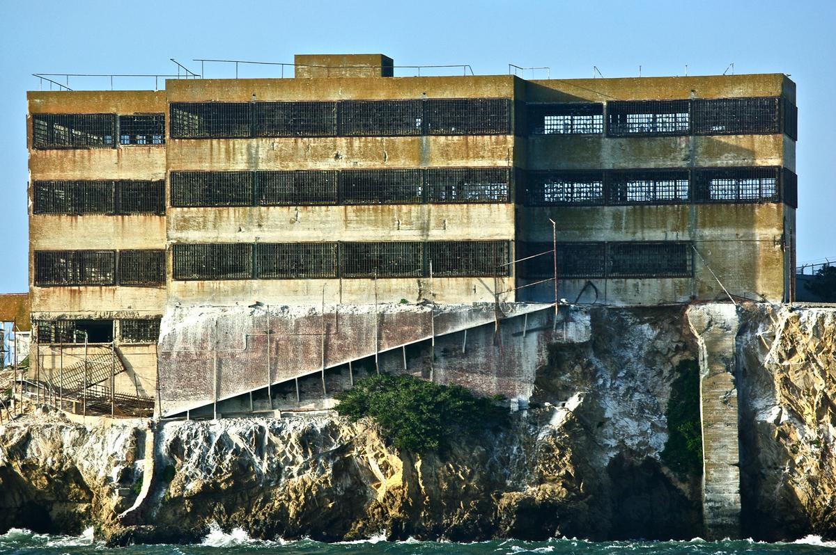 a view of alcatraz prison