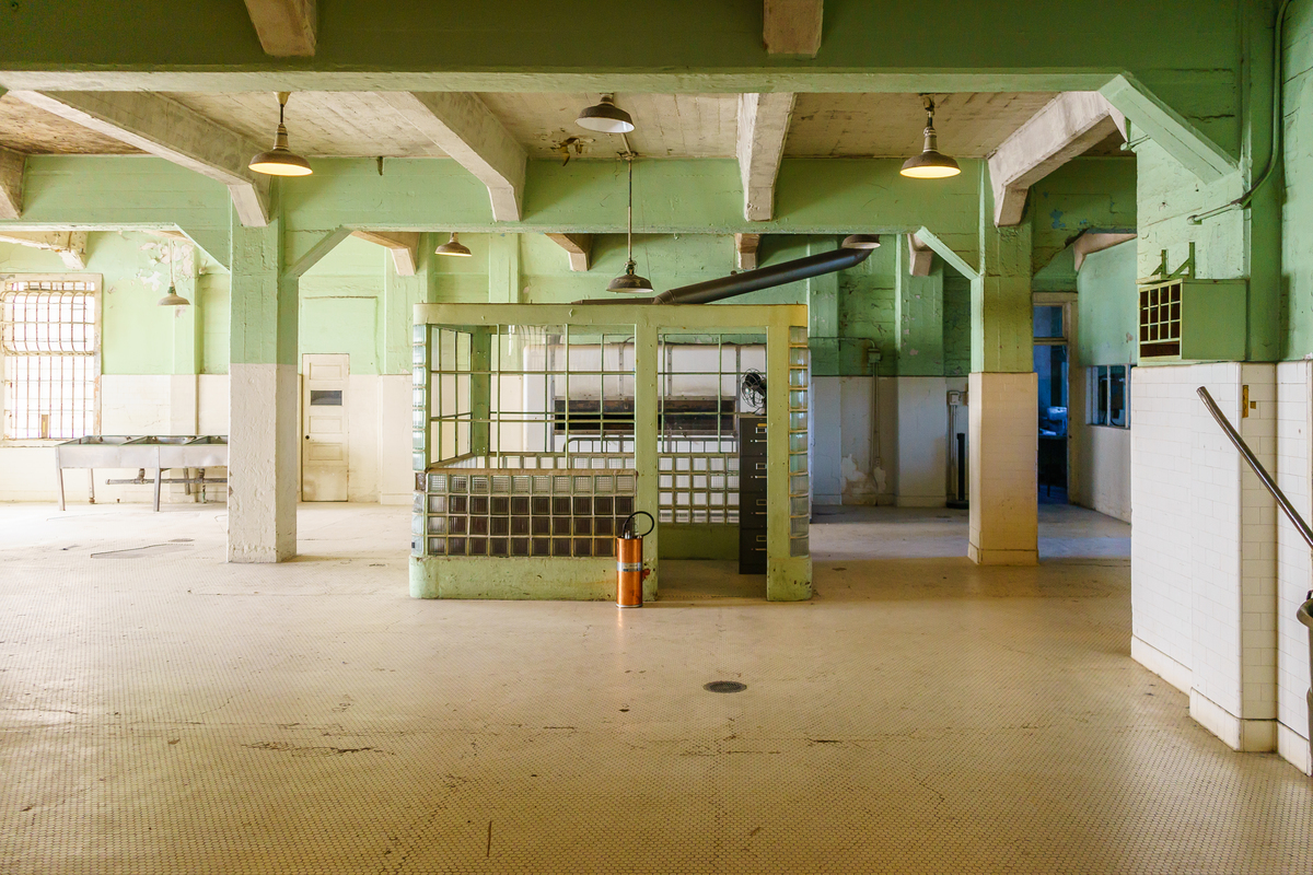 a view inside alcatraz