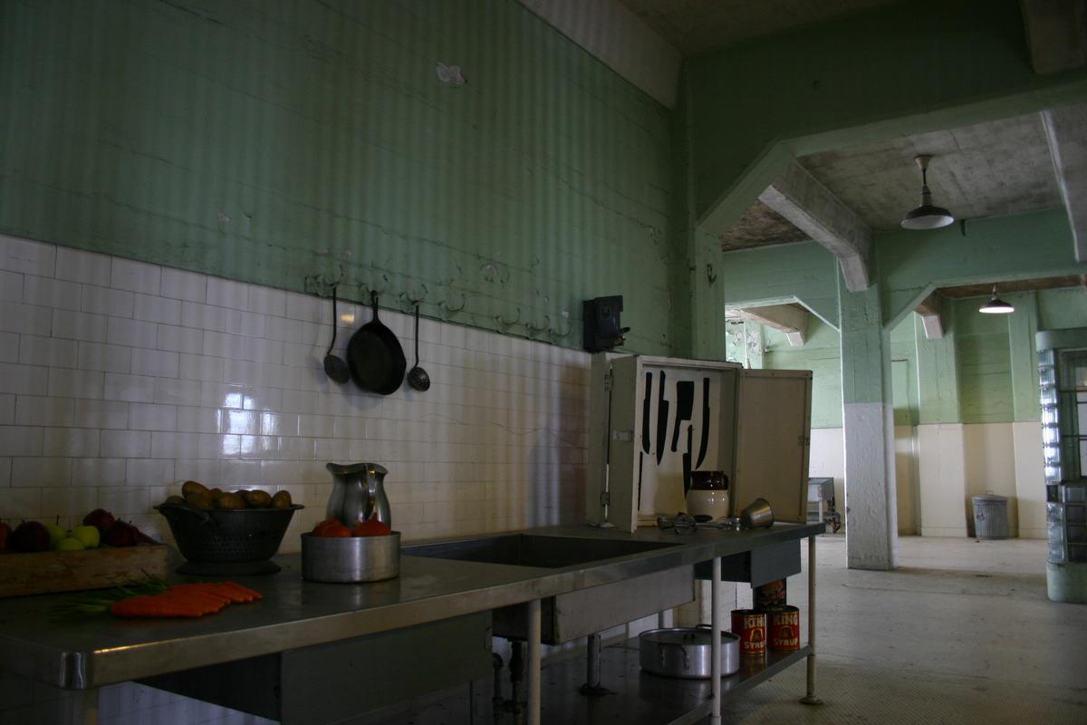a kitchen in alcatraz