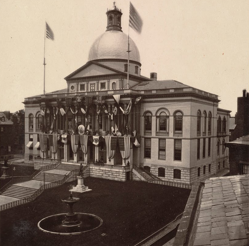 black and white photo of State House 1875