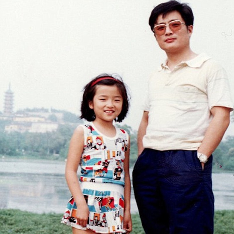 1988 picture hua and huahua in dress