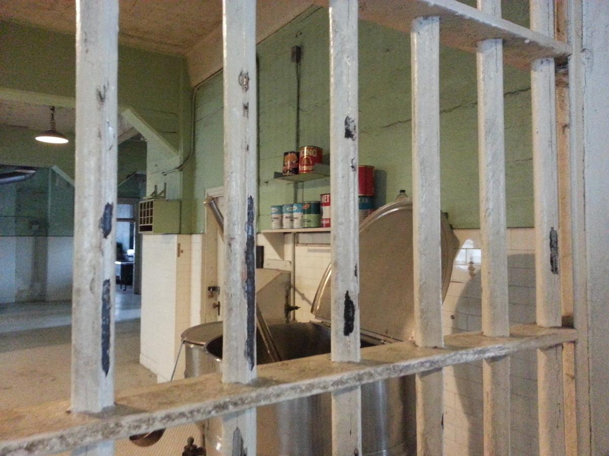 a view of an alcatraz kitchen