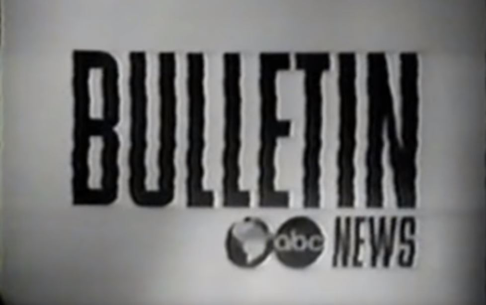 ABC's interruption broadcast signaling the death of President John F Kennedy