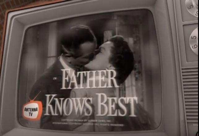 Father Knows Best opening on an antenna TV