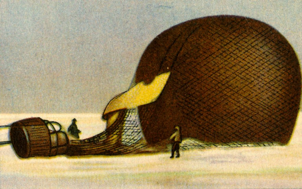 Andrée's Arctic balloon after the crash, 1897, (1932). Swedish engineer and aeronaut Salomon August Andrée -1085306276