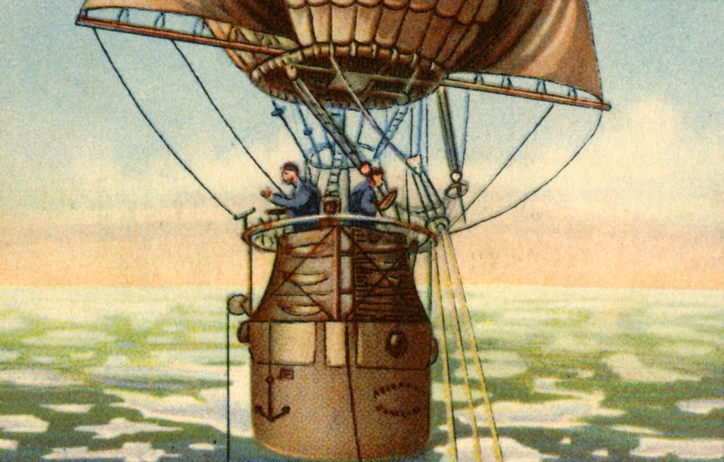 Andrée's Arctic balloon expedition, 1897, (1932). Swedish engineer and aeronaut Salomon August Andrée-1085306282
