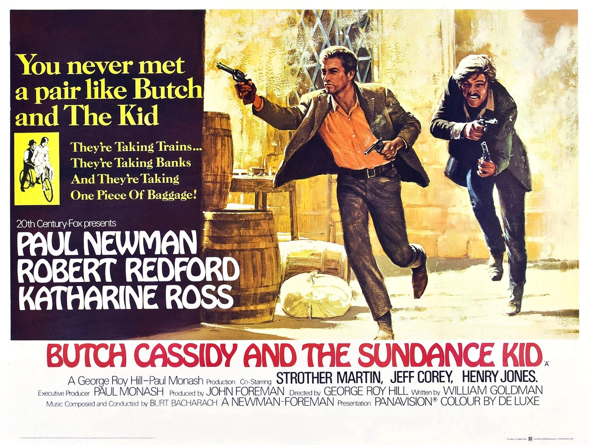Butch Cassidy And The Sundance Kid, poster, from left: Paul Newman, Robert Redford, 1969.