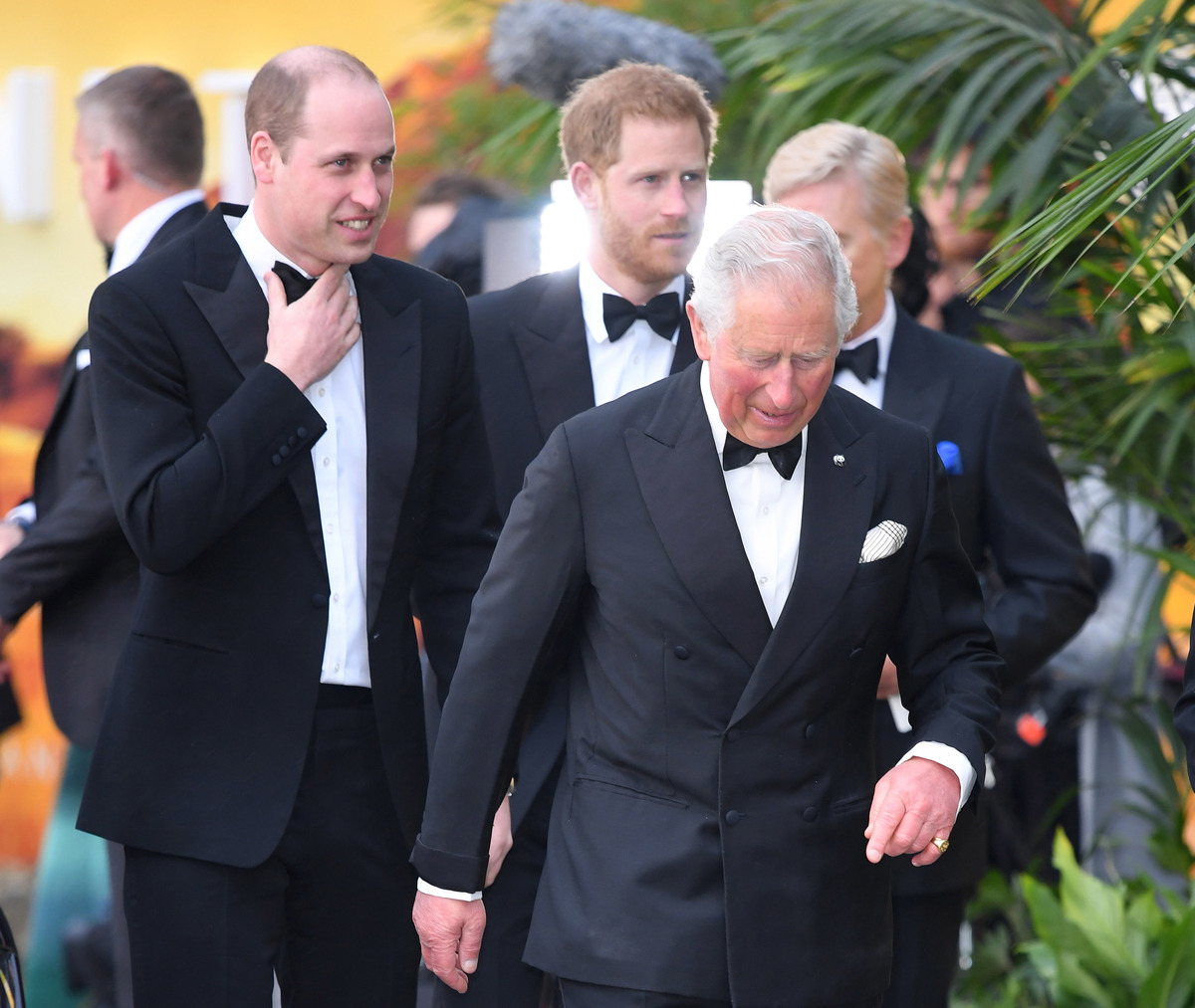 Prince William, Duke of Cambridge, Prince Harry, Duke of Sussex and Prince Charles, Prince of Wales attend the