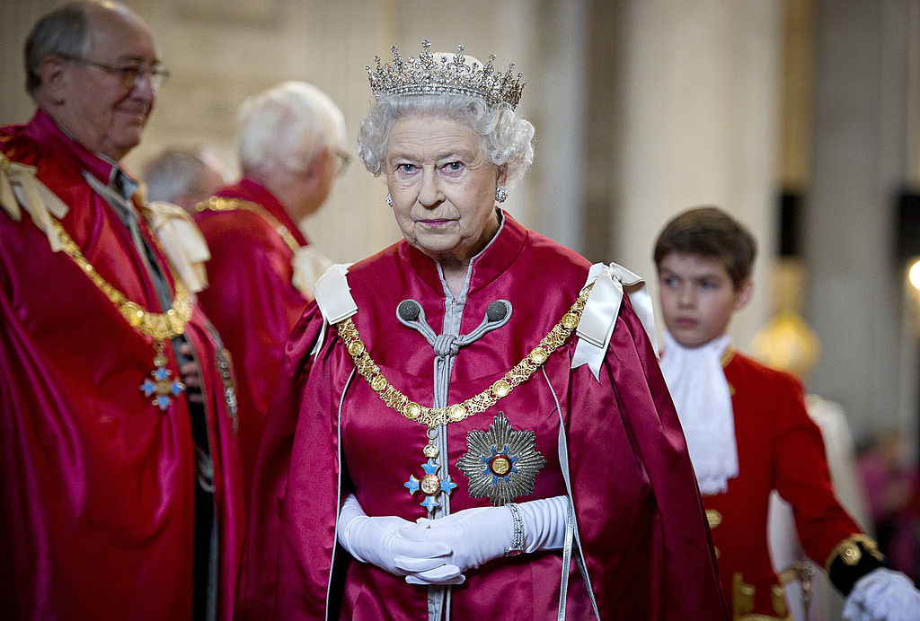 GettyImages-140841375 Queen Elizabeth II attends a service for the Order of the British Empire at St Paul's Cathedral