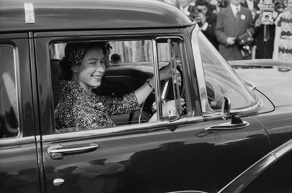 GettyImages-498378561 Queen Elizabeth II attends a polo match at Windsor, UK,