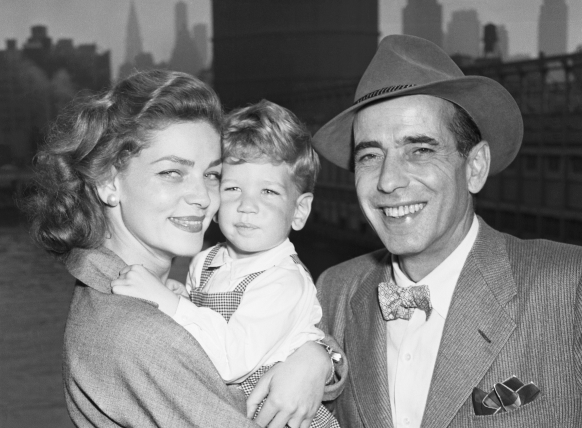 Actor Humphrey Bogart and his wife, actress Lauren Bacall, are just plain folks to their two-and-1/2-year-old son Stephen