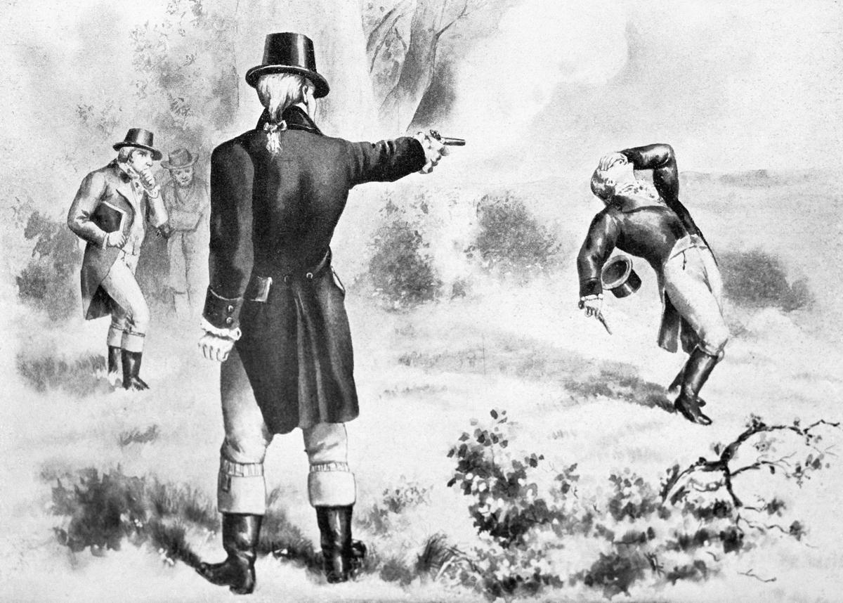 Illustration of the Duel Between Alexander Hamilton and Aaron Burr