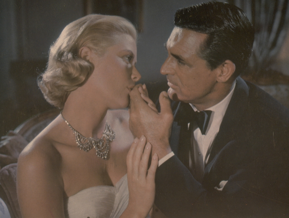 Grace Kelly and Cary Grant in 'To Catch a Thief' by Alfred Hitchcock.