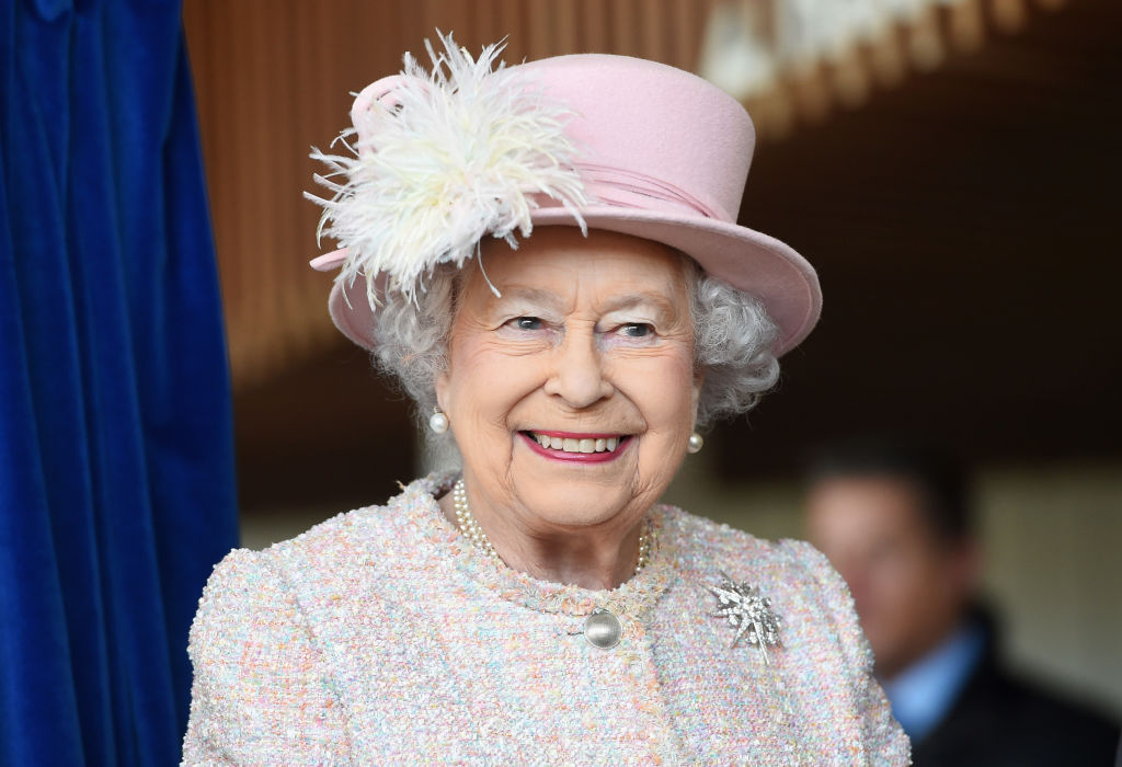 GettyImages-882819120 Queen Elizabeth II is seen at the Chichester Theatre