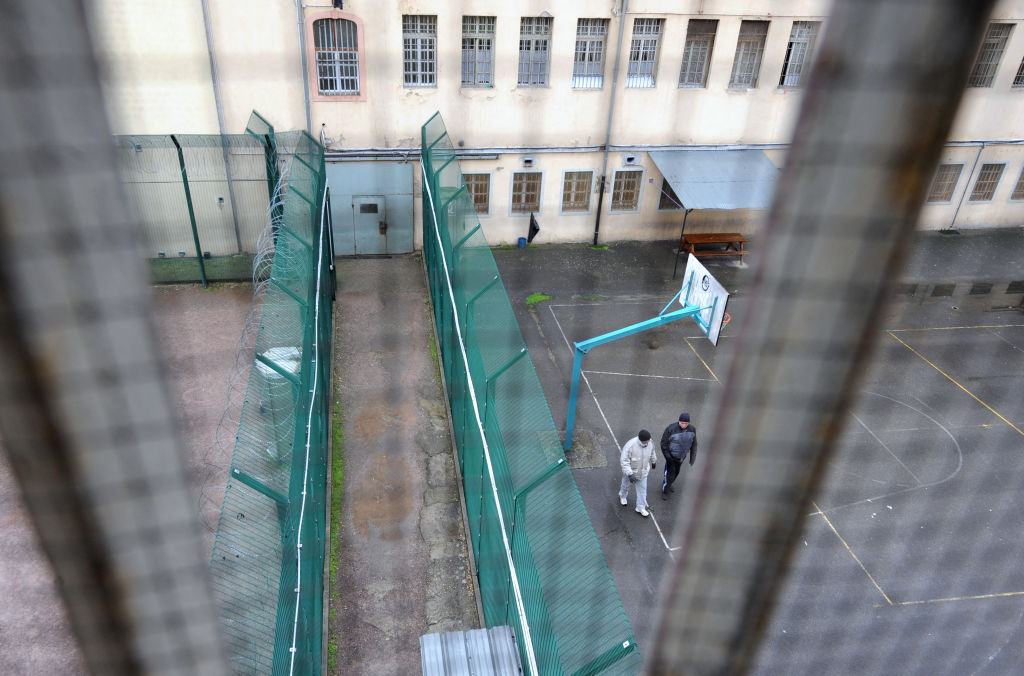 View of the courtyard and buildings in the prison