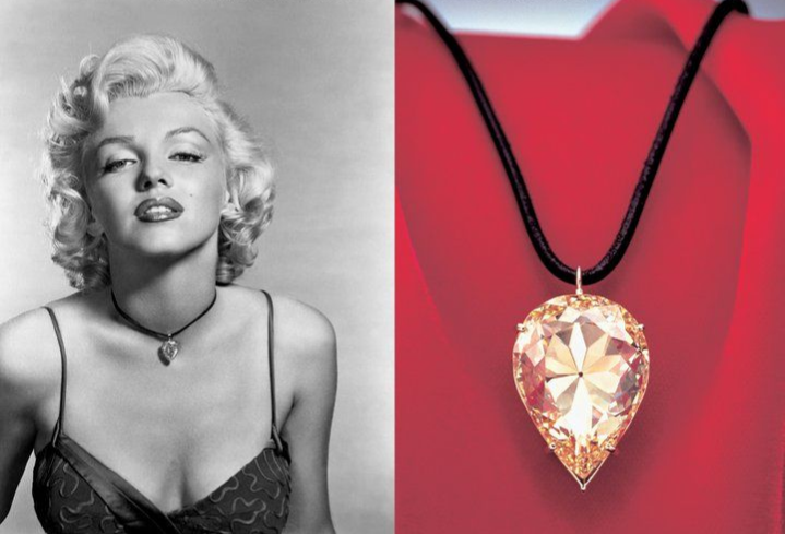 Marilyn Monroe wearing the Moon of Baroda