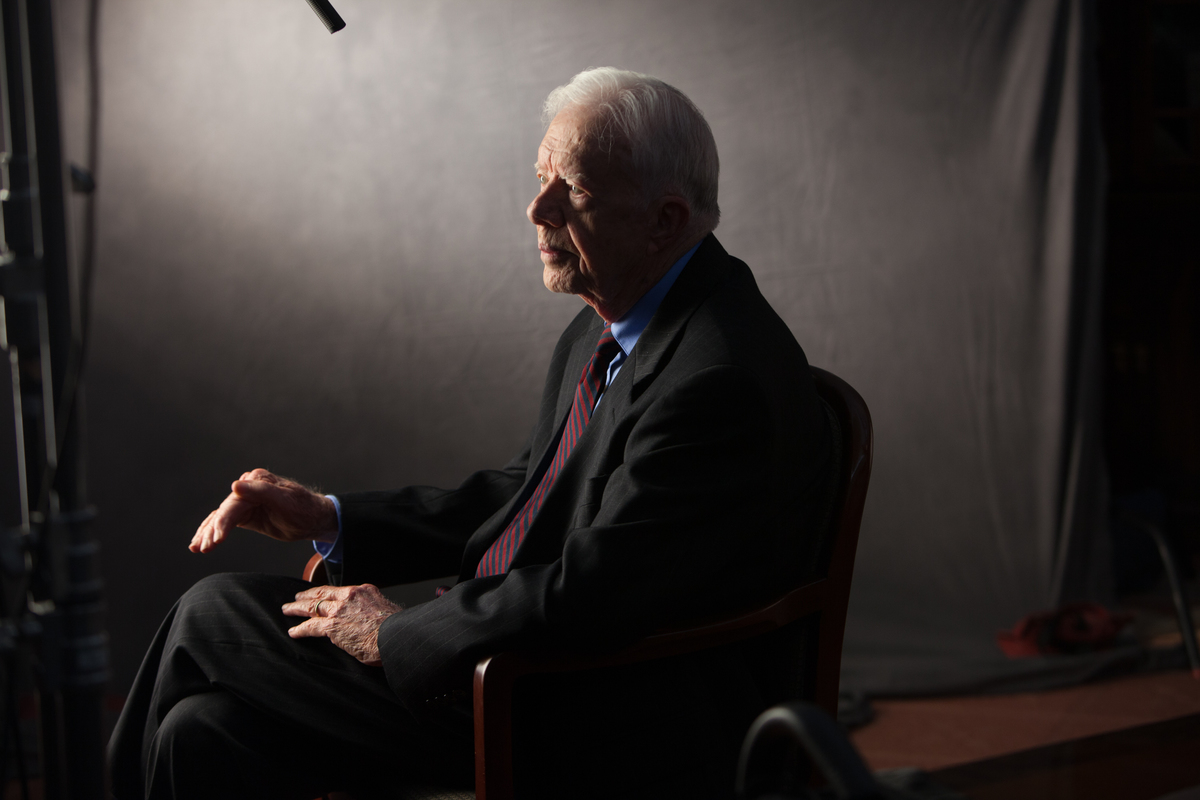 former President Jimmy Carter interviewed for