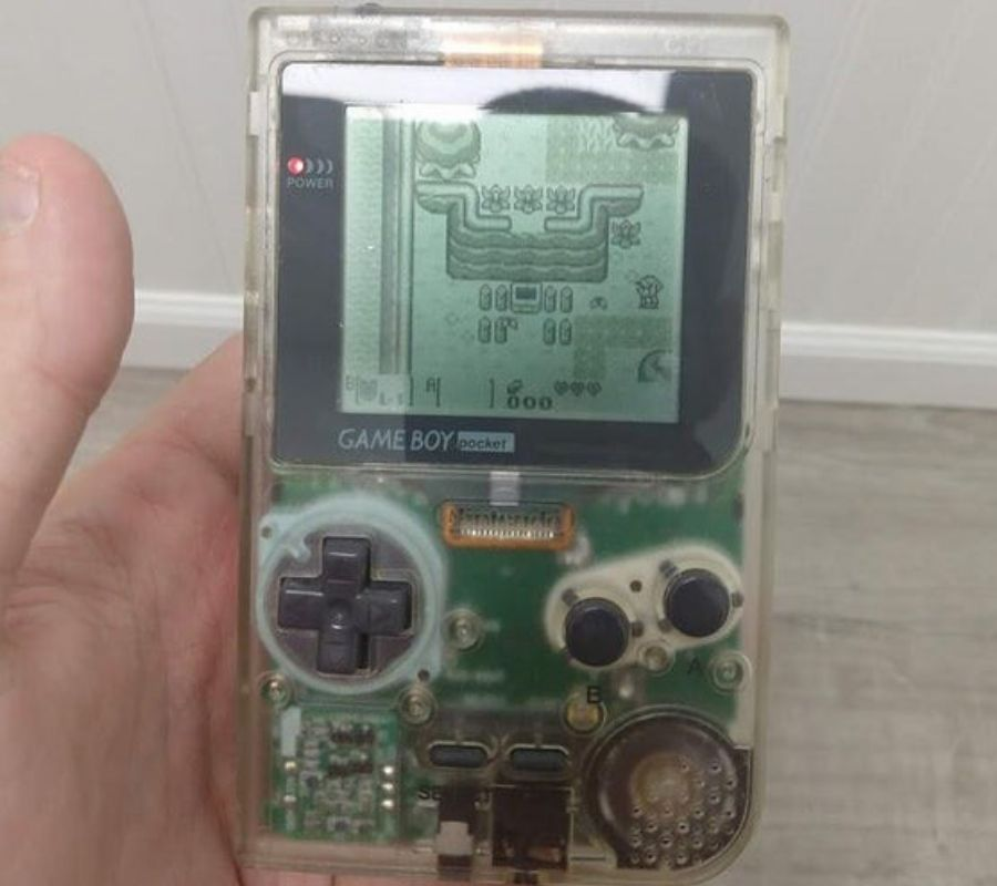 game boy pocket green and black video game