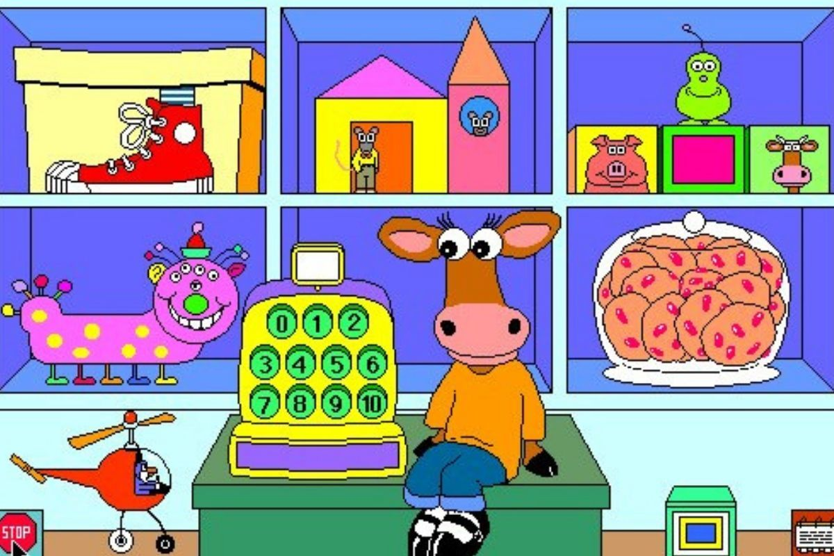 milly's math house little deer child's game