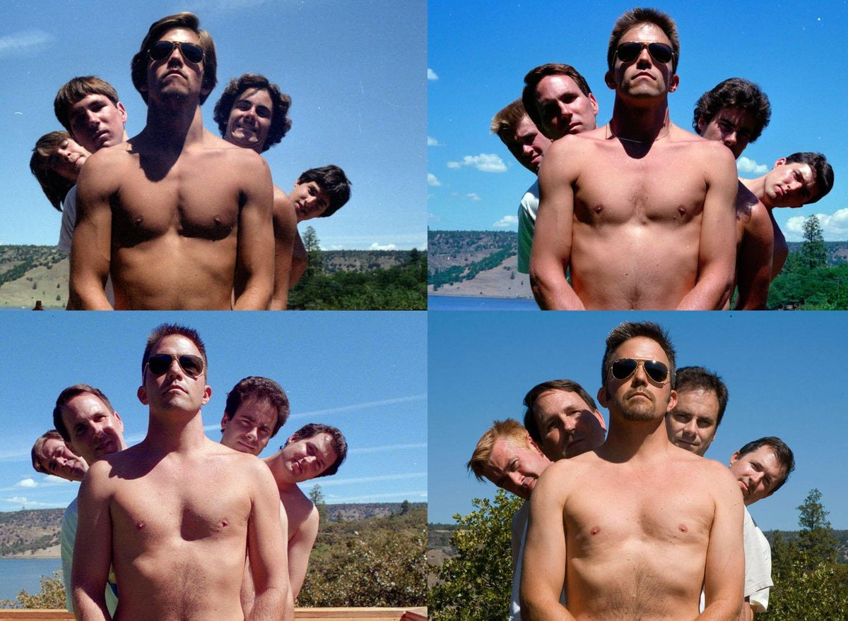 another photo that the five friends copied throughout the years