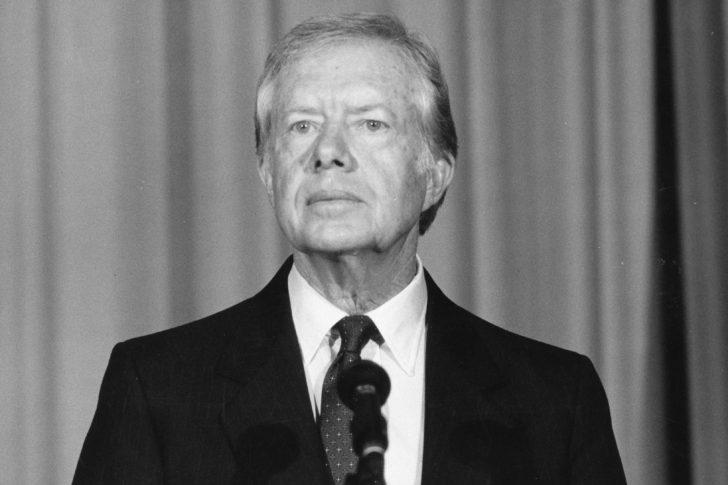 February 1986: Former US President Jimmy Carter in London