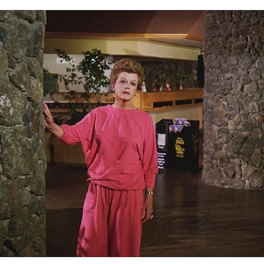 lansburry in pink tracksuit