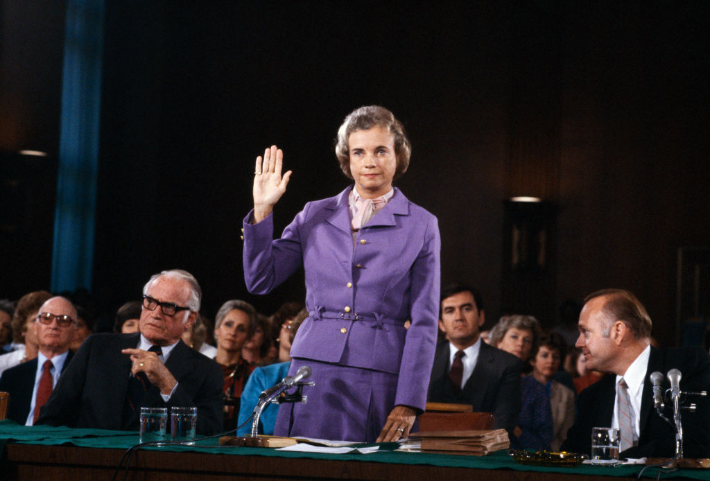 sandra day o'connor getting sworn in for the supreme court