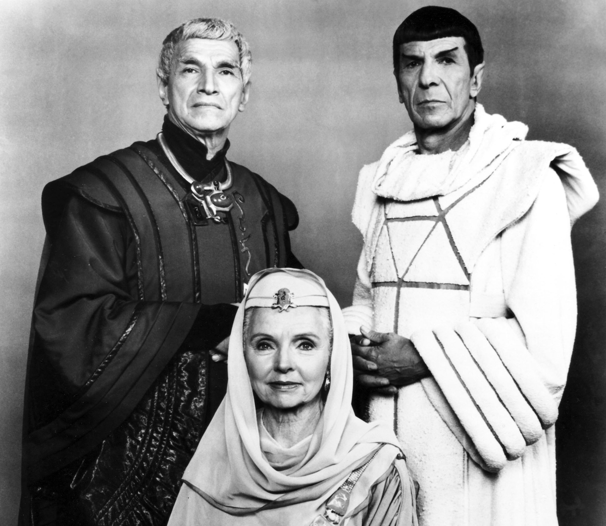 Jane Wyatt as Spock's mom in Star Trek: The Voyage Home