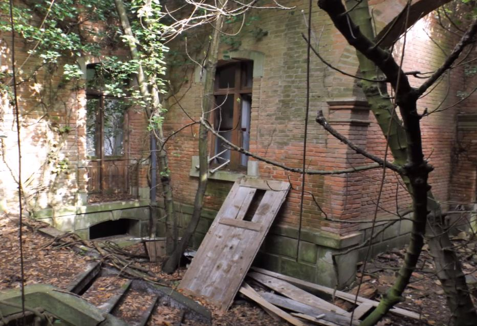 Exterior of the abandoned mental asylum on Poveglia island, Italy