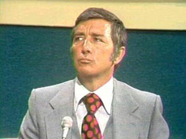 a photo of richard dawson on tv
