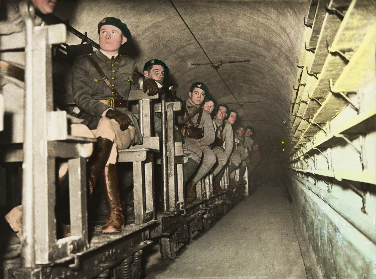 Soldiers in the maginot line during the Second World War