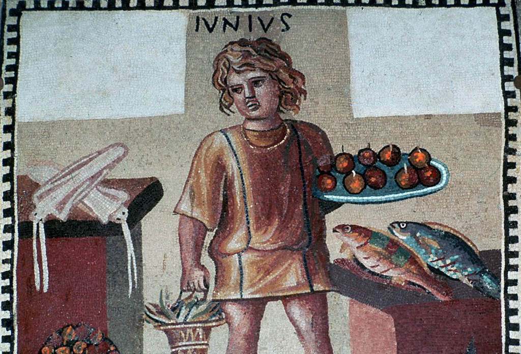 Boy with food
