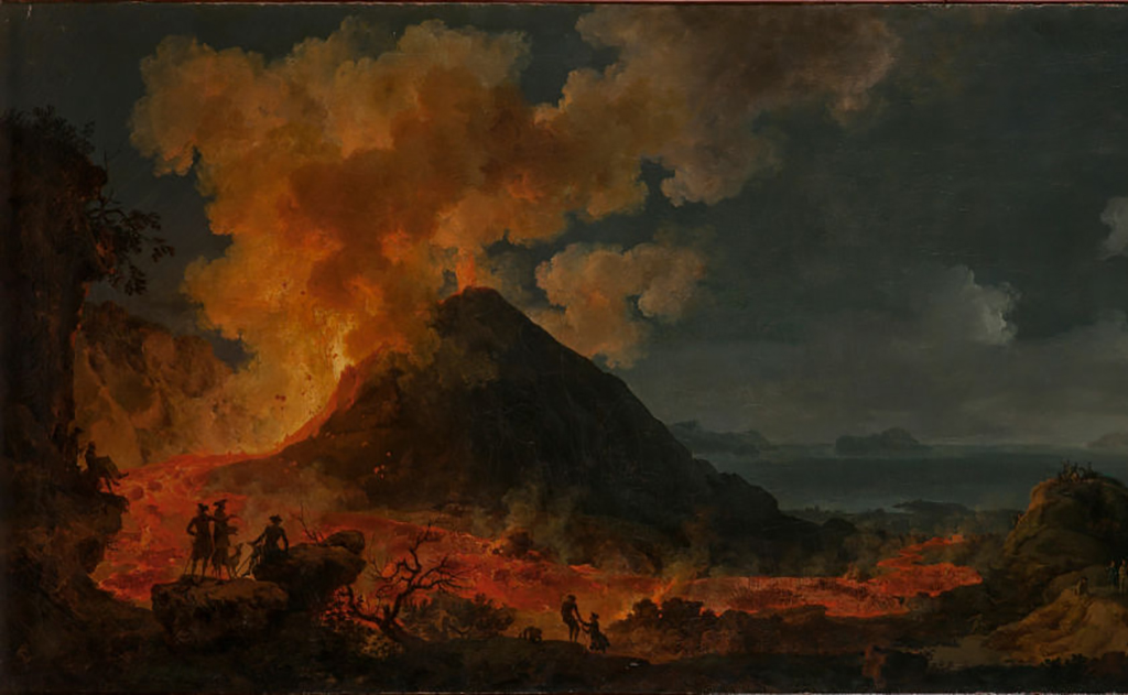 Eruption of a volcano