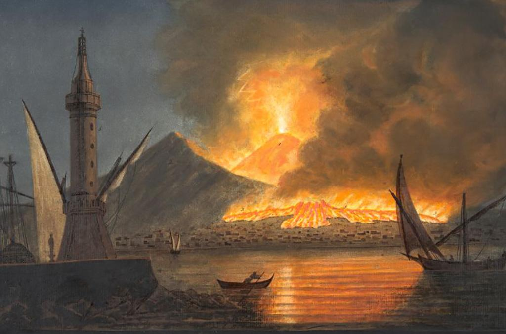 Eruption and boats