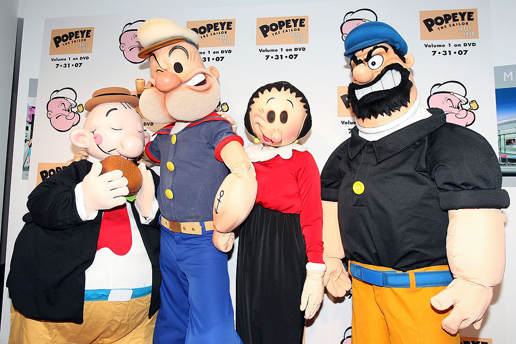 costumed popeye characters