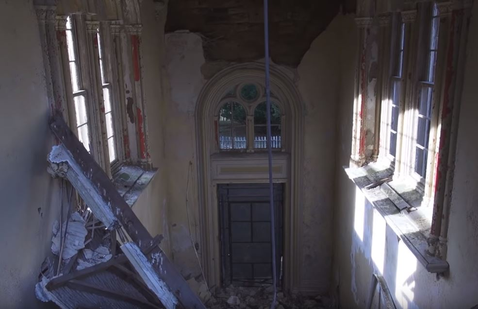 Doorway of abandoned Lennox Castle Hospital