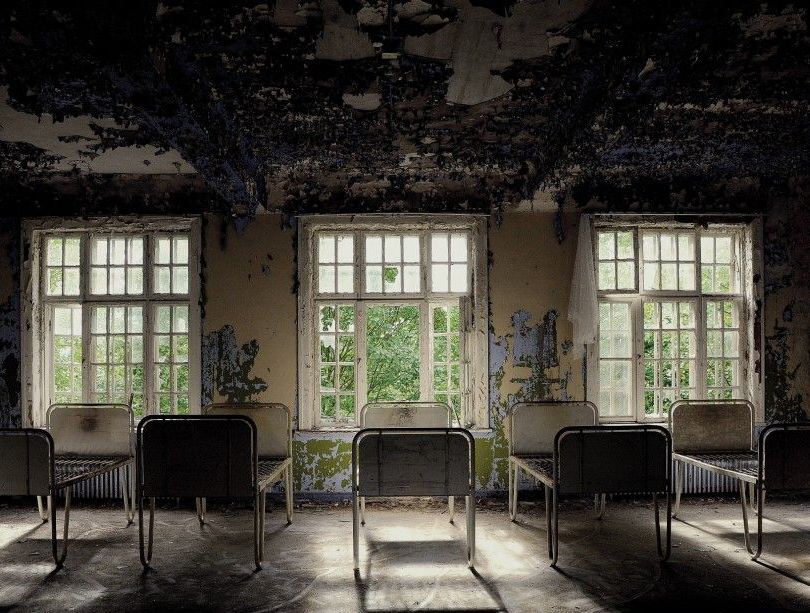 An abandoned insane asylum in Lier, Norway